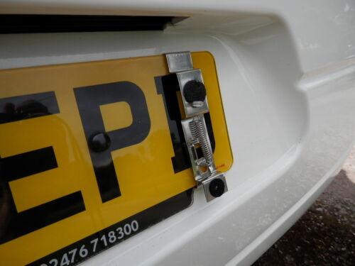 Los titulares de placa de comercio Clip en encubrir Kit Para 1 Placa de licencia número único conjunto