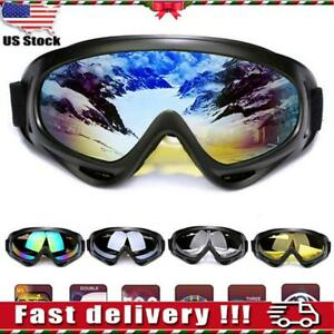 Adults-Winter-Snow-Sports-Goggles-Ski-Snowmobile-Snowboard-Skate-Snow-Glasses-US