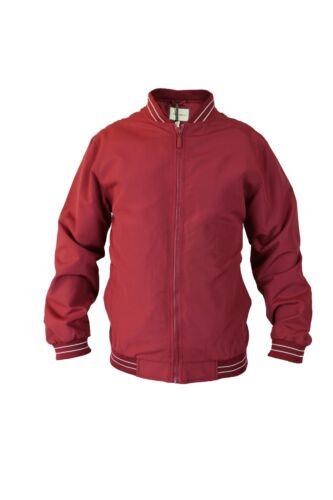 5XL Elasticated Hem /& Cuffs Full ZIP Mens Summer Light Weight College Jacket S