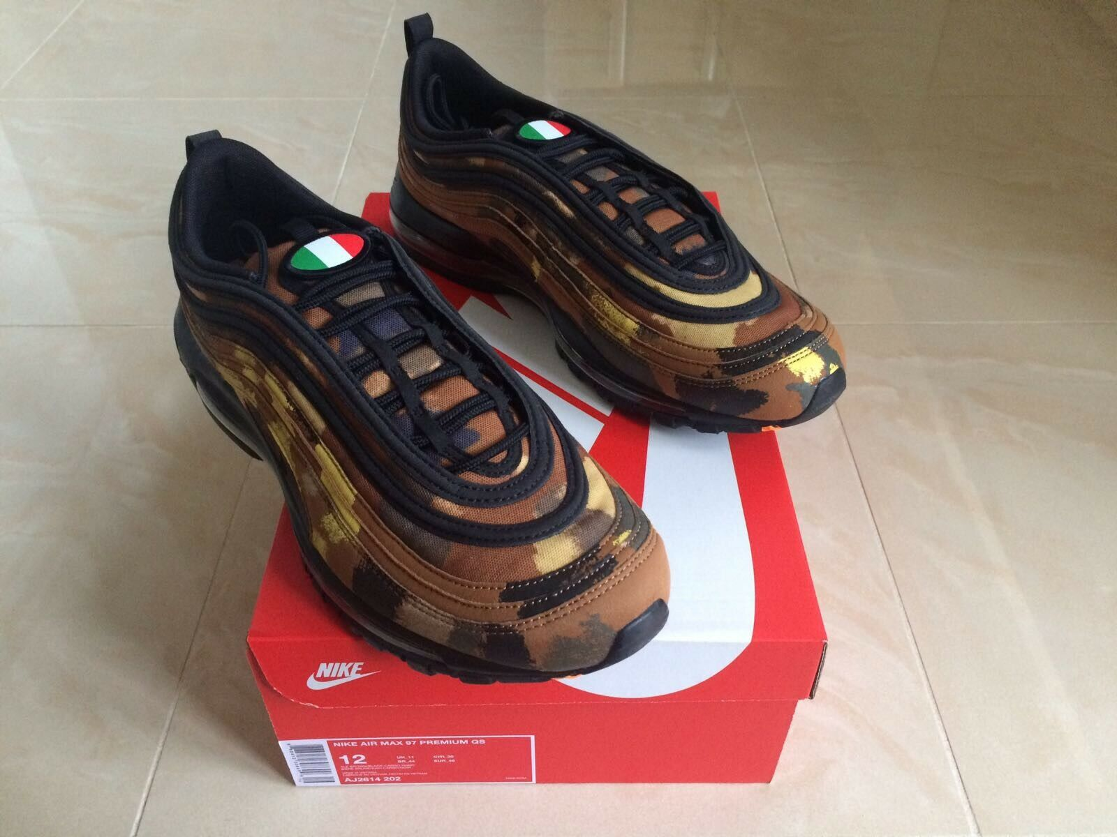 2018 NIKE AIR MAX 97 PREMIUM COUNTRY CAMO ITALY Taille7 & 11 NEW