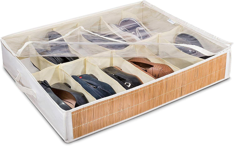 Organizador De Zapatos Para Debajo De La Cama Contenedor Para 12 Pares Armario Ebay