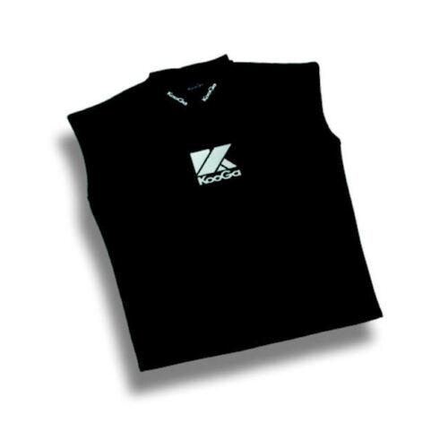 New KooGa Black Thermal Neoprene Sleeveless Workout Gym Top Med XL /& 2XL Lge