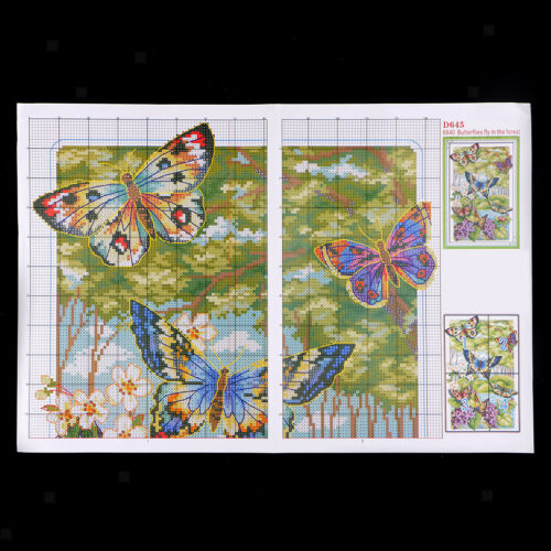 Stamped Counted Cross Stitch Kit Lovely Flying Butterfly Patterns