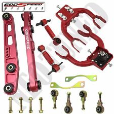GODSPEED RED 92-95 CIVIC FRONT UPPER CAMBER+REAR CAMBER+REAR LOWER CONTROL ARM