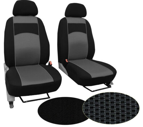 """FIAT SCUDO 1+1 2007 PRESENT UPHOLSTERY FABRIC /""""EXTRA FRONT UNIVERSAL SEAT COVERS"""