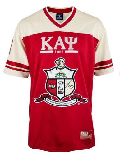 Kappa Alpha Psi Fraternity Mens New Football Jersey Crimson Red