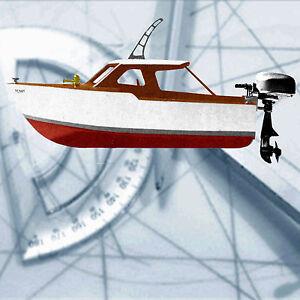 ... -Outboard-13-034-amp-26-034-Model-Boat-Plan-Cabin-Cruiser-Penny-Plans