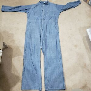 Vtg-Universal-Chicago-Stone-Cutter-Size-48L-Sanforized-Union-Coveralls-Overalls