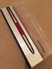 Vintage 1970s Paper Mate CONTOUR Red CT Ball Pen-USA-Boxed-Mint