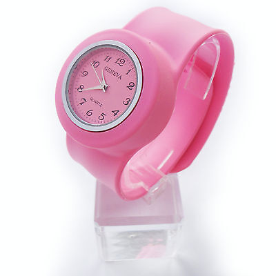 Fashion Slap On Snap  Unisex Silicone Rubber Sports Watch