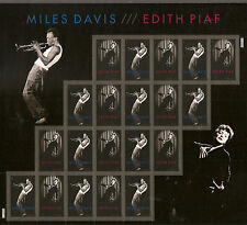 US 4692-4693 Miles Davis Edith Piaf forever sheet MNH 2012