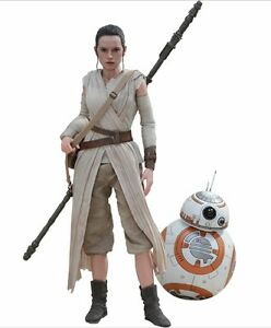 STAR-WARS-Ep-VII-Daisy-Ridley-Rey-amp-BB-8-2-Pack-1-6-Action-Figure-12-034-Hot-Toys