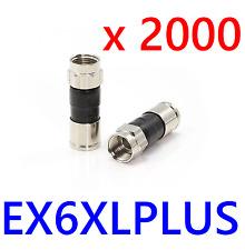 LOT 2000 RG6 EX6XL Coax Cable FITTINGS Compression Directv EX6XLPLUS CONNECTORS