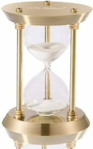 Hourglass-Timer-Sand-Clock-with-5-Minutes-amp-Brass-Metal-Hour-Glass