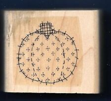 TOMATO Fabric Quilt Sew Stitch Line Pin Cushion Design Stampin' Up! RUBBER STAMP