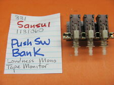 SANSUI 1131060 PUSH SWITCH BANK SANSUI 331 331L 331SS 221 STEREO RECEIVER