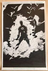 Gary Frank Batman original comic art. p5 & 6  Catwoman, Superman, Doomsday Clock