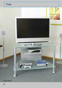 Porta Tv Lcd Vetro.Carrello Porta Tv Vista 94 Piani In Vetro Temperato Strutt In