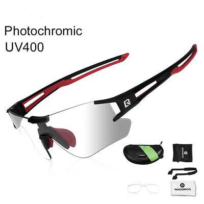 UV400 Photochromic Cycling Glasses Bike Bicycle Eyewear Cycle Sport Sunglasses