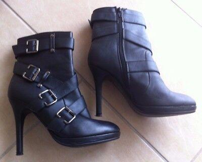 Stiefelette Stiefeletten 40 Damenstiefel High Heels Boots Damenschuh