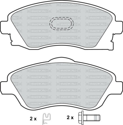 OEM SPEC FRONT AND REAR PADS FOR VAUXHALL TIGRA 1.8 2004-09