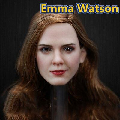"""1:6 scale  beauty JT002 Emma Watson  Golden modern  Head Model For12/""""Figure New"""