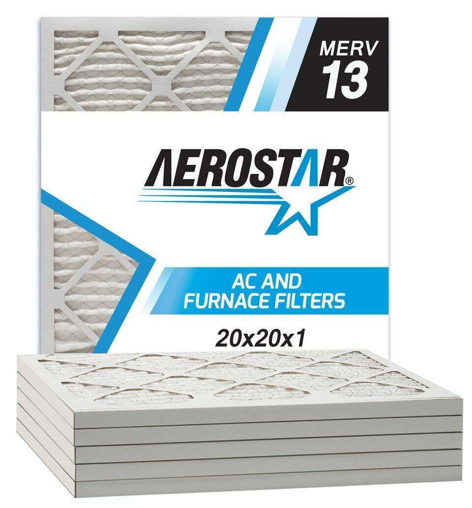 Aerostar Home Max 20x22x1 MERV 13 Pleated Air Filter Made in the USA Captur...