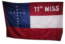 4x6 Embroidered Sewn 11th Mississippi Battle 300D Nylon Flag 4'x6' Banner