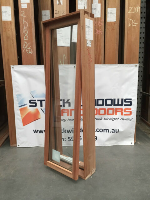 Timber Awning Window 1197h x 450w - Double Glazed (BRAND NEW IN STOCK)