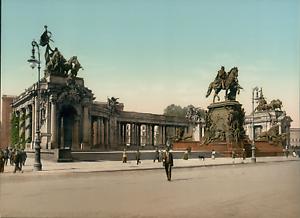 Berlin-Kaiser-Wilhelm-I-Denkmal-Totalansicht-PZ-vintage-photochromie-phot