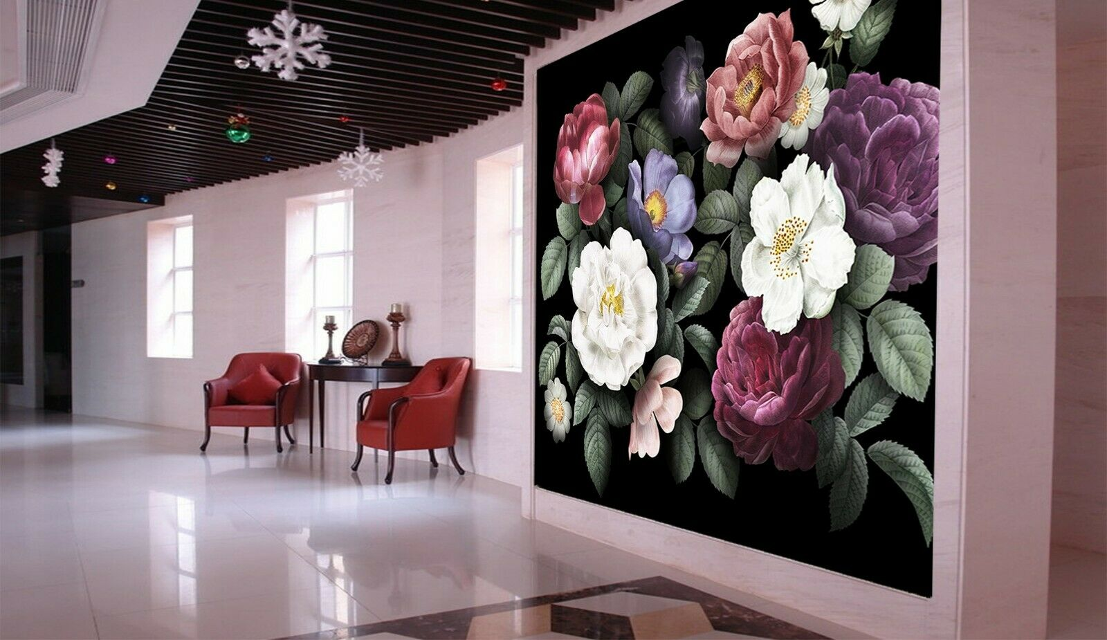 3D ColGoldt Flower I118 Business Wallpaper Wall Mural Self-adhesive Commerce An