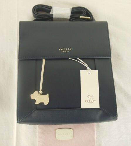 Medium Bag Radley To Leather Shoulder Navy Border Body Small Across Cross Blue qqtxPTHw