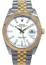 劳力士 Datejust 41 18k 黄金/不锈钢白色表盘男式手表 B/P'19 126333