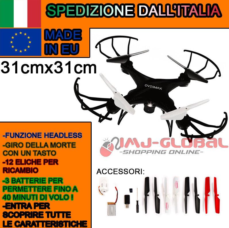 RC DRONE QUADRICOTTERO 2.4 GHZ XBEE 3.1 ROTAZIONE 360  CAMERA HD