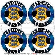 "ESTONIA EESTI Estonian Vinyl Bumper-Helmet Stickers, Decals 2"" (50mm) x4"