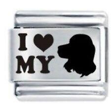 Love MY COCKER SPANIEL Daisy Charm JSC Fits Classic Size Italian Charms Bracelet