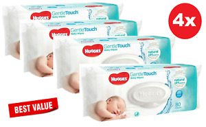 4x Huggies Gentle Touch Baby Wipes 80 Pack (320 PK)