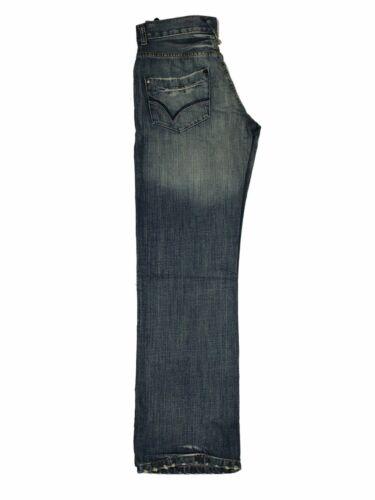 Mens Apt Straight Designer Bootcut Stonewashed Jeans Rinse Regular Fit Pants