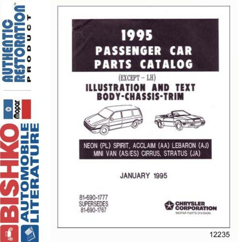 1995 Mopar Chrysler Dodge Desoto Plymouth Parts Numbers CD List Interchange