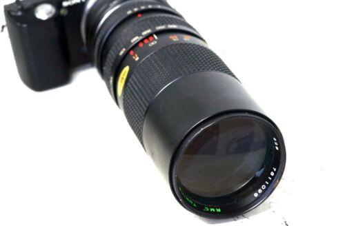 SONY MOUNT adaptado HOYA 100-300mm F5.6 E Zoom Lente ALL A7 NEX A6000