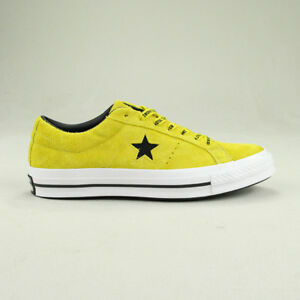 25e5f1ef4ff6 Converse One Star Pro Ox Trainers Shoe in Citron Black in UK size 6 ...