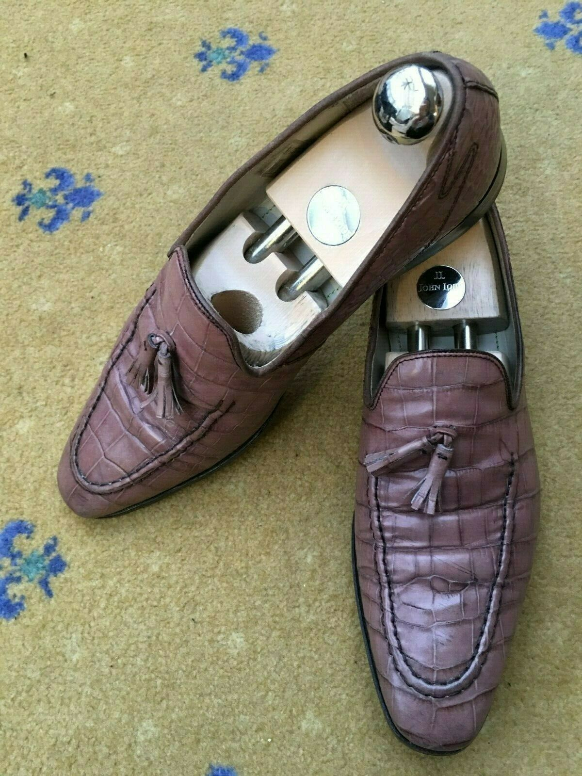 Oliver Sweeney Mens shoes Brown Moc Moc Moc Croc Tassel Loafer UK 8 US 9 EU 42 b4b075