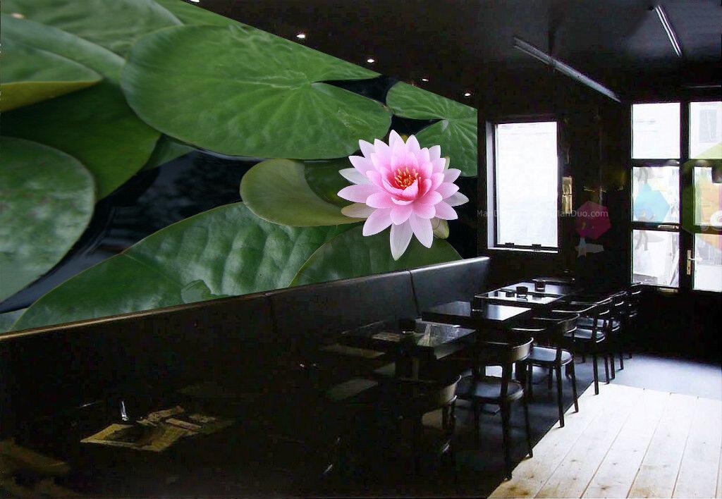3D Lotus verlässt Blaumen 56 Tapete Tapeten Mauer Foto Familie Tapete Wandgemälde