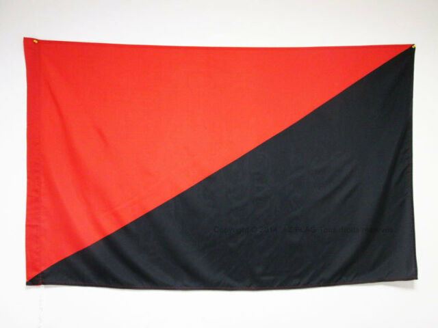 ANARCHO SYNDICALISM MOVEMENT FLAG 3' x 5' for a pole - ANARCHO-SYNDICALIST FLAGS