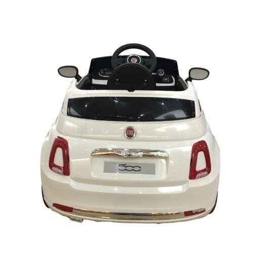 Blue Ride on Fiat 500 Electric12v Car With Parental remote /& LED lights /& music