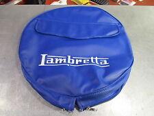 "LAMBRETTA S3 Li TV SX GP ALL MODELS 10"" SPARE WHEEL COVER BLUE WITH POCKET"