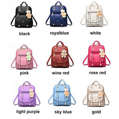 Women's Backpack Leather Shoulder Bag Girls Travel School Bags Satchel Rucksacks