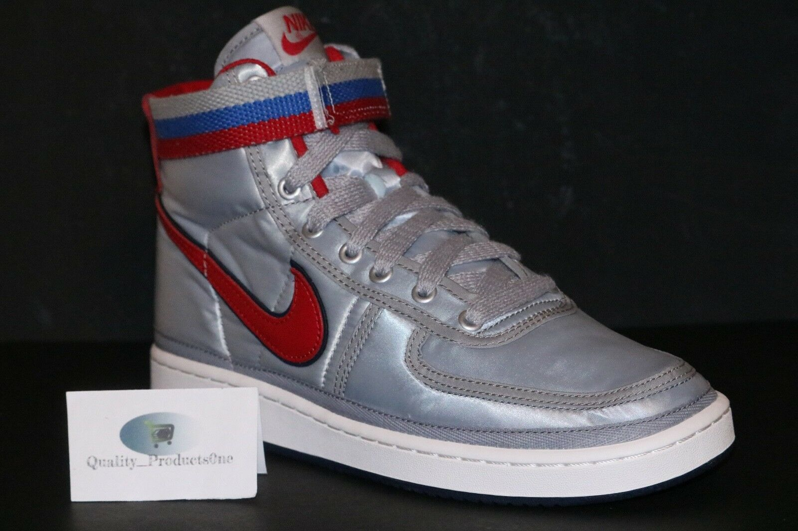 Nike Vandal High Supreme QS Metallic Silver University Red AH8652 001 Sz 8-10