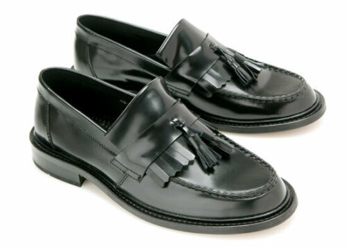 Black Ikon Originals Shoes Womens Selecta Tassel Loafer