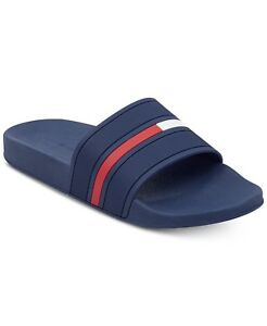 6120424da3275 Image is loading TOMMY-HILFIGER-Men-039-s-Ennis-Slide-NAVY-